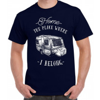 The Place Where I Belong Caravan Camping Men's T-Shirt
