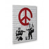 Banksy CND Soldiers Box Canvas Print Wall Art - Choice of Sizes