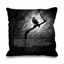 The Raven Edgar Allan Poe Faux Silk 45cm x 45cm Sofa Cushion