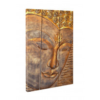 Buddha Wooden Carving Box Canvas Print Wall Art - Choice of Sizes