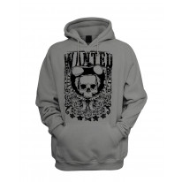 Wanted Poster Skull Men's Pouch Pocket Hoodie Hooded Sweatshirt