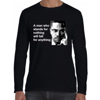 Malcolm X Man Quote Long Sleeve T-Shirt