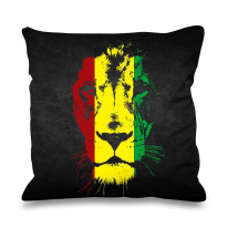 Lion of Judah Jamaican Colours Faux Silk 45cm x 45cm Sofa Cushion