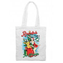 Naughty Rudolph Reindeer Christmas Shoulder Shopping Bag