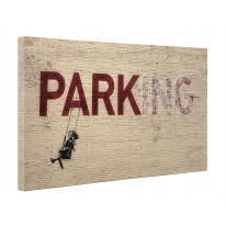Banksy Parking Girl on Swing Box Canvas Print Wall Art - Choice of Sizes