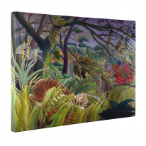 Henri Rousseau Tiger in Tropical Storm Box Canvas Print Wall Art - Choice of Sizes
