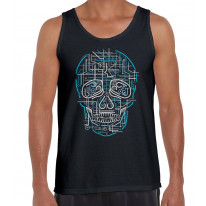 Electric Skull Men's Vest Tank Top