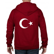 Turkish Coat Of Arms Flag Full Zip Hoodie