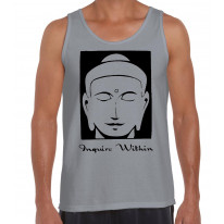 Inquire Within Yoga Meditation Men's Tank Vest Top