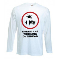 Banksy Americans Working Overhead Long Sleeve T-Shirt