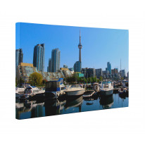Toronto Harbour Canada Canvas Print Wall Art - Choice Of Sizes