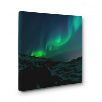 Northern Lights Mountains Box Canvas Print Wall Art - Choice of Sizes