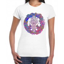 Indian Elephant Peace Symbol Large Print Women's T-Shirt