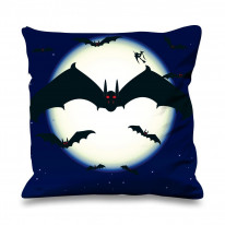 Vampire Bats Faux Silk 45cm x 45cm Sofa Cushion