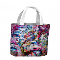 Abstract Teeth Graffiti Tote Shopping Bag For Life