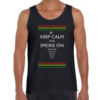 Keep Calm and Smoke On Cannabis Men's Vest Tank Top