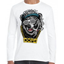 Hip Hop Dope Bear Long Sleeve T-Shirt
