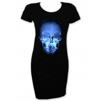 X-Ray Skull Short Sleeve T-Shirt Dress