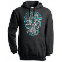 Electric Skull Pouch Pocket Hoodie