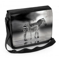 Zebra With Baby Laptop Messenger Bag