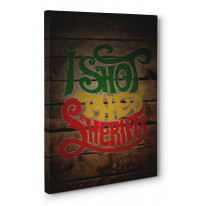 I Shot The Sherrif Box Canvas Print Wall Art - Choice of Sizes
