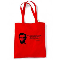 Abraham Lincoln Quote Shopping Bag