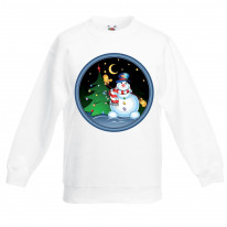Christmas Snowman and Tree Kids Jumper \ Sweater