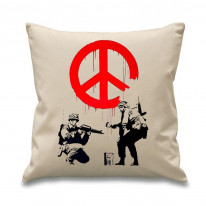Banksy CND Soldiers Cushion