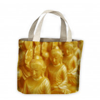 Golden Buddha Statues Tote Shopping Bag For Life