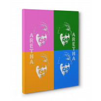 Aretha Franklin Box Canvas Print Wall Art - Choice of Sizes