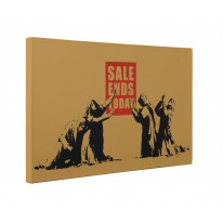 Banksy Sale Ends Today Box Canvas Print Wall Art - Choice of Sizes