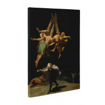 Goya Flight of the Witches Box Canvas Print Wall Art - Choice of Sizes