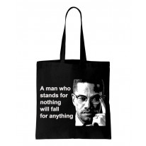 Malcolm X Man Quote Shoulder Bag