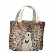 Gustav Klimt Garden with Chicken and Rooster Tote Shopping Bag For Life