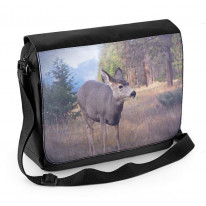 Deer in Woodland Laptop Messenger Bag