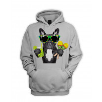 French Bulldog Brazilian Style Men's Pouch Pocket Hoodie Hooded Sweatshirt