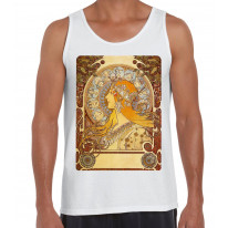 Alphonse Mucha The Zodiac Art Nouveau Large Print Men's Vest Tank Top