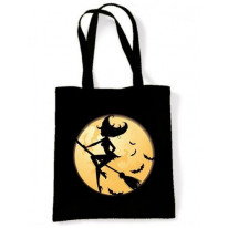 Witch On Broomstick Shoulder Bag