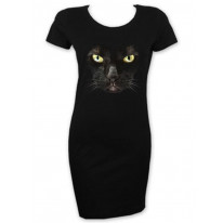 Black Witches Cat Short Sleeve T-Shirt Dress