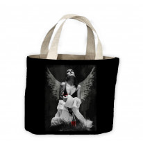 Fallen Angel with Tattoos and Wine Tote Shopping Bag For Life