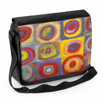 Wassily Kandinsky Colour Study Square with Cincentric Circles Laptop Messenger Bag