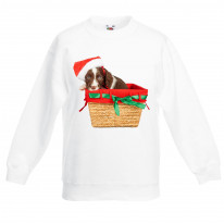 Springer Spaniel Santa Claus Father Christmas Kids Sweater \ Jumper