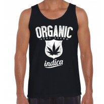 Organic Indica Cannabis Men's Tank Vest Top