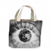 Abstract Eye with Moon Tote Shopping Bag For Life