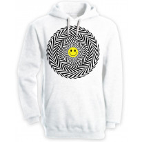 Acid Trip Smiley Face Pouch Pocket Hoodie