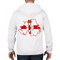 Northern Ireland Coat Of Arms Flag Full Zip Hoodie