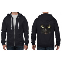 Black Cat Full Zip Hoodie