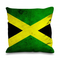Jamaican Flag Faux Silk 45cm x 45cm Sofa Cushion