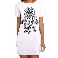 Dreamcatcher Native American Hipster Large Print Women's T-Shirt Dress