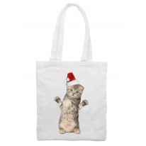 Santa Claus Kitten Christmas Shoulder Bag